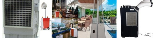 Air outdoor coolers rental, misting fan rental, patio heater rental & outdoor ac rental in Dubai-UAE